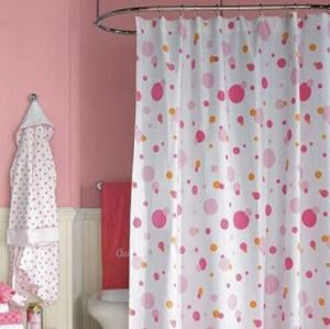 Polyester print shower curtain HLF-020
