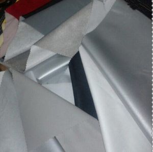 Polyester silver coated fabric for car cover HTF-036