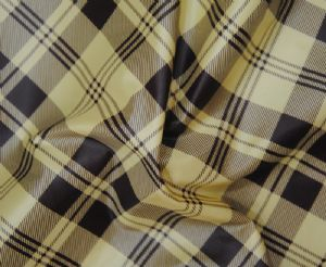 50D filament|printed  gingham polyester fabric WCF-023