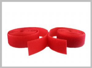 Red 2 Inch Wide Sew On hook and loop Straps he got the velcros Roll For Medical , Eco - friendly