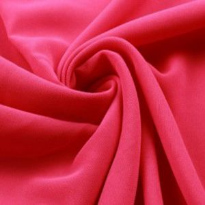 Red shiny chiffon fabric for evening dress WCD-025