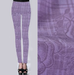 Rose printed twill leggings fabric PF-059