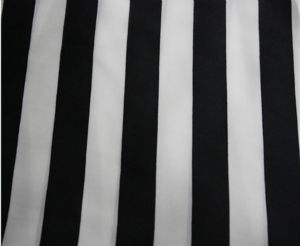 White and black stripe satin chiffon fabric DF-027
