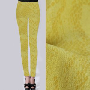 Serpentine printed twill leggings fabric PF-060