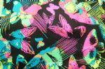 Shiny Butterfly Printed Beachwear Fabric SSF-008