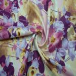 Smooth and Stretch Floral Lycra Printted Lingerie Fabric PFF-036