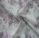 Soft 4 Way Stretch Flower Printed Fabric for Lingerie MF-023