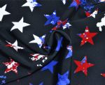 Star Printed Swimwear Nylon Spandex Fabric SSF-042