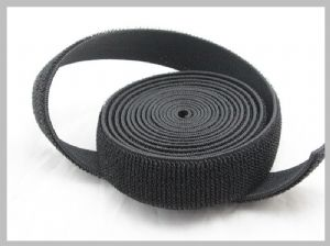 Strong Black Elastic Hook And Loop Fasteners Strap,hook & loop tape self adhesive For Bandages