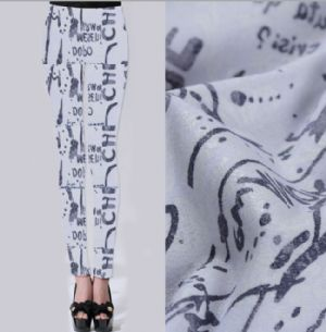 Text printed twill leggings fabric PF-063