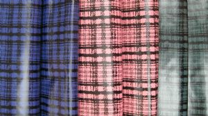 Three line plaid printed fabric PPF-029