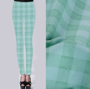 Undertint plaid printed fabric PF-053