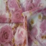 Underwear Fabric|Knitted Rose Printed Mesh Fabric MF-008