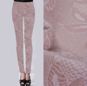 Vogue lace printed leggings fabric PF-071