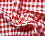White Red checked Printed nylon stretch fabric PCF-003