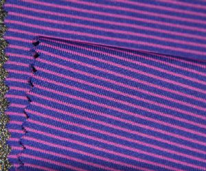 Wicking jersey polyester spandex stripe fabric yarn dyed KKF-033