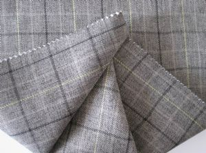Wool-like twill plaid cloth MSF-025