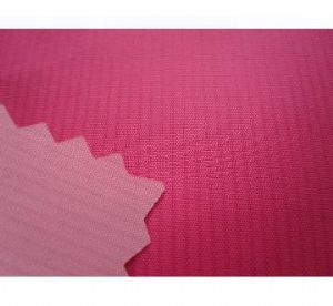 Yarn dyed coated fabric with PU milky coating for jackets CWC-033