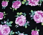 big rose printing knitted fabric PFF-042