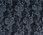 black floral jacquard knitted spandex fabric PFF-019