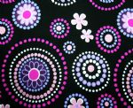 circle dot flower swimwear fabric PFF-065