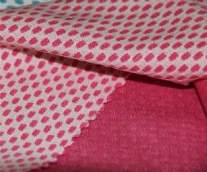100% polyester knit fabric|double tone check fabric for shirt KKF-032