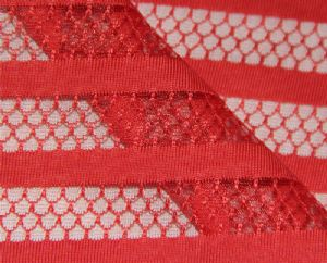 knitting stripe mesh fabric|100% polyester fabric for dress MF-061