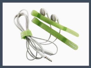 made in china q type hook and loop cable tie,green
