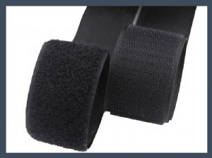 nylon fine and soft hook magic tape,black