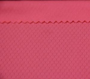 polyester fabric soft hand feel dry fit fine texture beautiful pink KKF-004