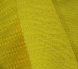 polyester spandex jacquard jersey knit fabric for garment neon t shirt KKF-044