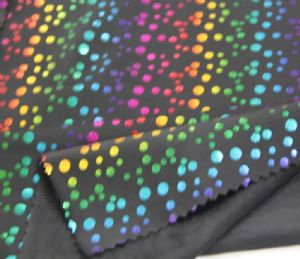 polyester spandex leopard print fabric swimwear for suit or shoes KKF-026